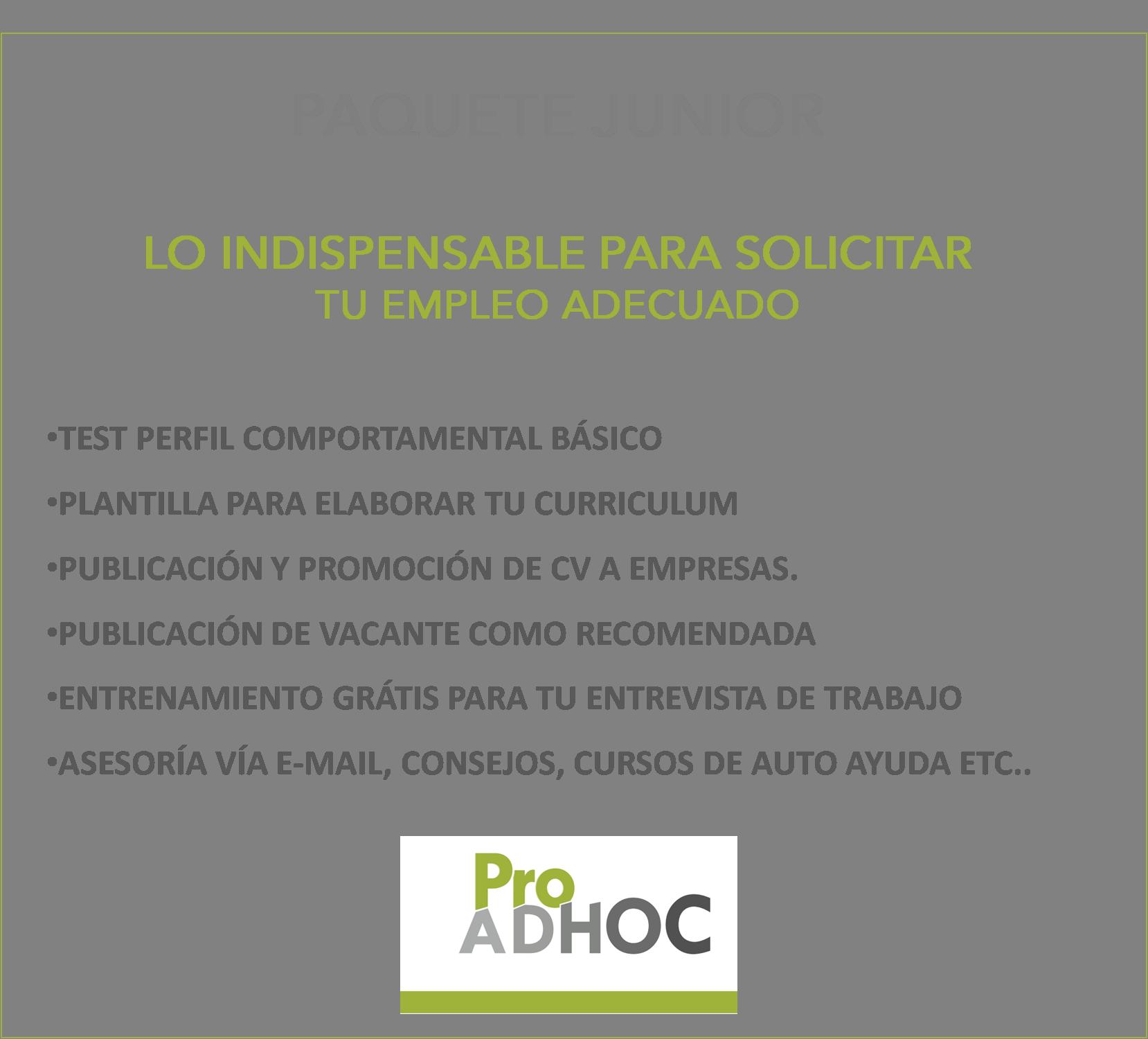 Paquete Junior – Proadhoc